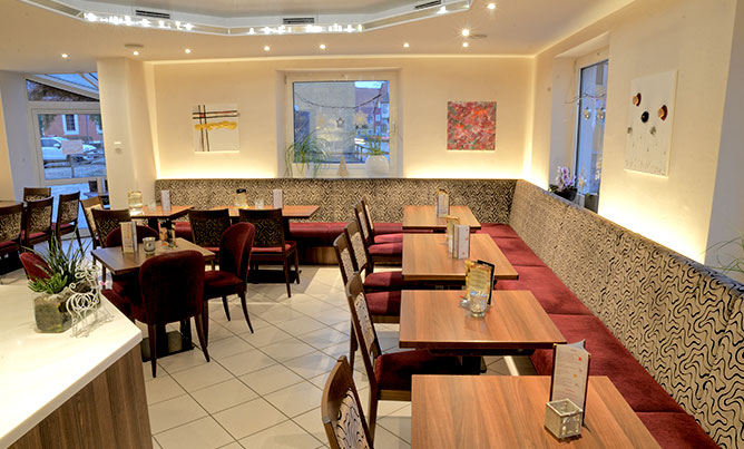 Café Bechhofen, Innenraum, Sitzplätze