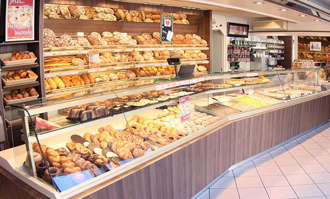 Bäckerei Café Rieß, Ladengeschäft Innen