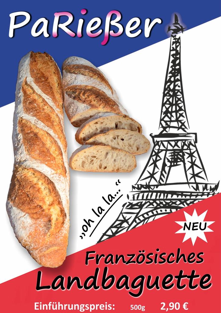 PaRießer – Französisches Landbaguette