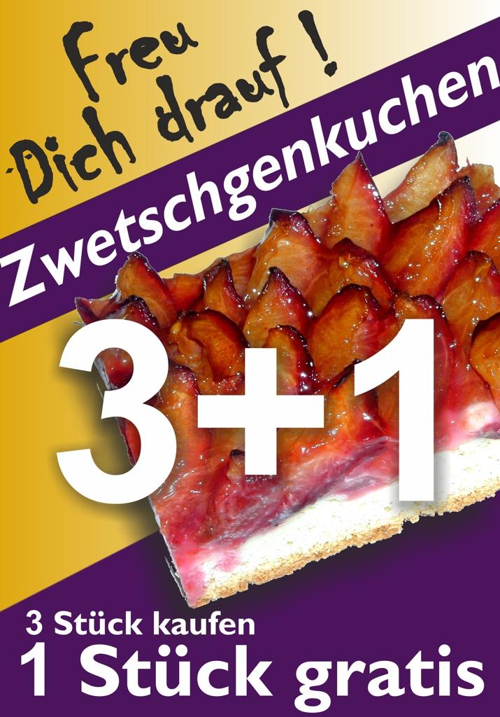 Zwetschgenkuchen 3 Plus 1 Freu Dich Drauf !
